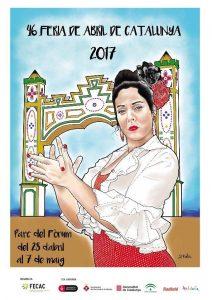 CARTEL FERIA ABRIL CATALUNYA 2017
