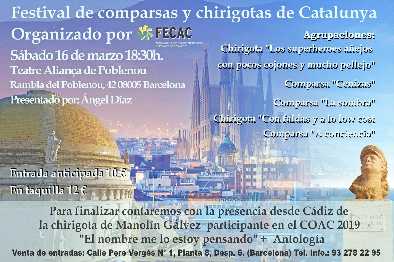 Calendario Coac 2019.Festival De Chirigotas Y Comparsas En Cataluna 2019 Fecac